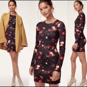 Aritzia Wilfred Fleure Long Sleeve Mini Dress XXS